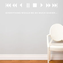 Fast forward in White Wall Decal