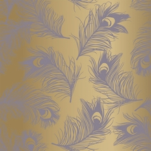 Feathers Lavender Removable Wallpaper