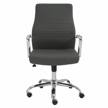 Fenella Office Chair in Gray and Chrome