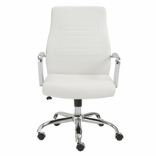 Fenella Office Chair in White and Chrome