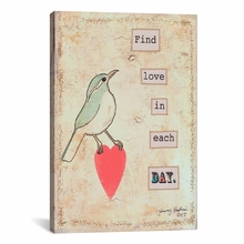 Find Love In Each Day Canvas Wall Art
