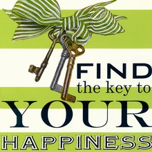 Find the Key to your Happiness Canvas Art
