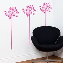 Fire-Flowers in Rose Wall Decal