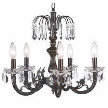 Five Arm Mocha Flower Crystal Chandelier