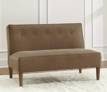 Five Button Armless Love Seat