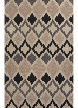 Flamestitch Rug in Gray