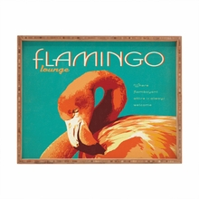 Flamingo Lounge Rectangular Tray