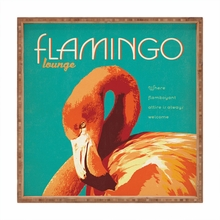 Flamingo Lounge Square Tray