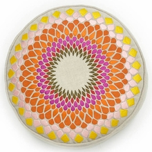 Fleur de Sun Round Throw Pillow