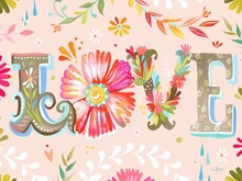 Floral LOVE Poster Wall Decal