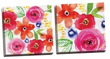 Floral Medley I, II Canvas Wall Art Set
