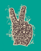 Floral Peace Poster Wall Decal