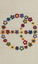 Floral Peace Sign Skylar Rug