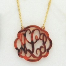 Flourish Acrylic Monogram Necklace