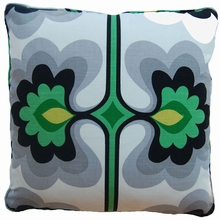 Flower Green Throw Pillow