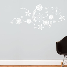 Flower Power in White Wall Decal