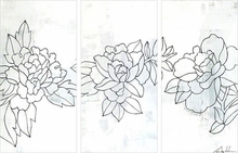 Flower Triptych No. 31 Canvas Art