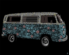 Flower Van Canvas Wall Art