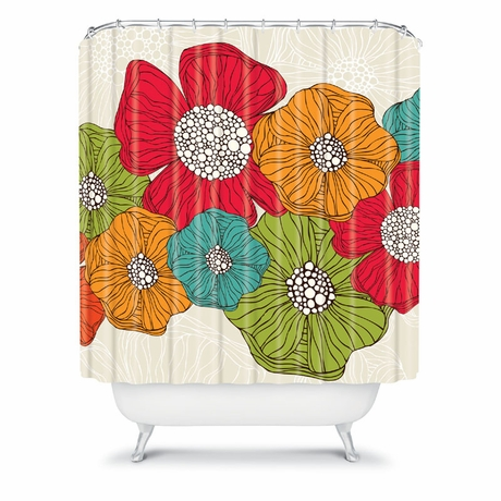 District17 Flowers Shower Curtain Shower Curtains
