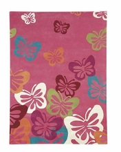 Flying Butterflies Rug