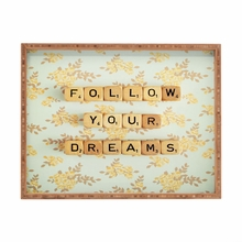 Follow Your Dreams Rectangle Tray