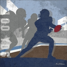 Football 100 Yards Quarterback Canvas Wall Art