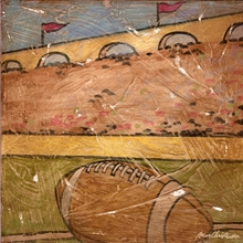Football Home Field Canvas Wall Art