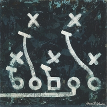 Football Playbook X & O Canvas Wall Art