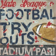 Football Tryouts Canvas Wall Art