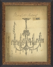 For the Library Chandelier Framed Wall Art