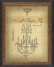 For the Parlor Chandelier Framed Wall Art