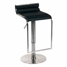 Forest Bar and Counter Stool in Black and Satin Nickel