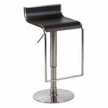 Forest Bar and Counter Stool in Wenge and Satin Nickel