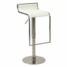 Forest Bar and Counter Stool in White and Satin Nickel
