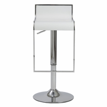 Fortuna Bar and Counter Stool in White and Chrome