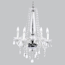 Four Arm Middleton Glass Chandelier