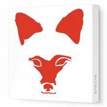 Fox Face Canvas Wall Art