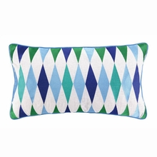 Franca Embroidered Pillow in Blue