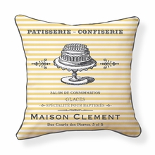 French Patisserie Reversible Throw Pillow