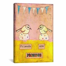 Friends Are Precious Canvas Wall Art