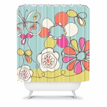 Fun Floral Shower Curtain
