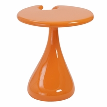 Galan Side Table in High Gloss Orange