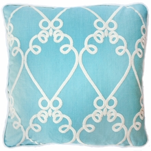 Galt Aqua Throw Pillow
