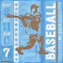 Game Ticket At Bat Canvas Art