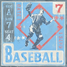 Game Ticket Baseball Canvas Art
