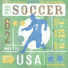 Game Ticket Going For the Goal Canvas Art