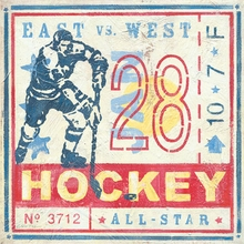 Game Ticket Hockey Canvas Art