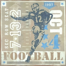 Game Ticket Rushing the End Zone Canvas Art