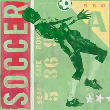 Game Ticket Soccer Canvas Art