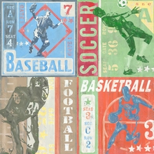 Game Tickets Team Sports Canvas Art